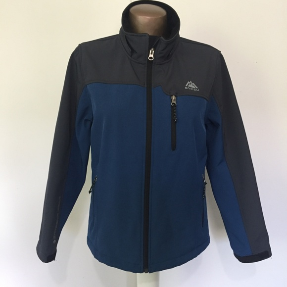 03190a903 Snozu Jackets & Coats | Blue Grey Waterproof Rain Snow Jacket Zip Up ...